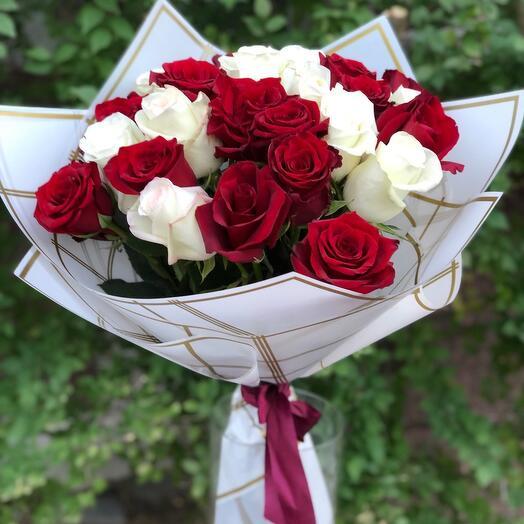 Букет «Белое и красное»