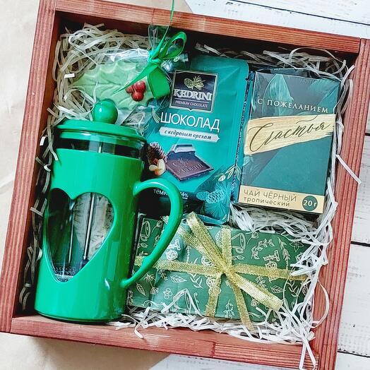 Подарочный набор с френч прессом
