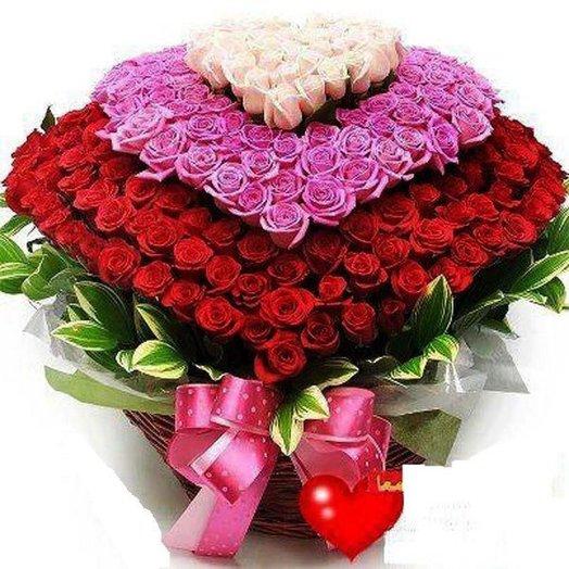 Luxury rose heart: flowers to order Flowwow