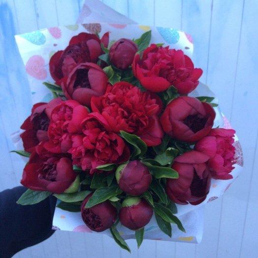 Букет Королевские Пионы: букеты цветов на заказ Flowwow