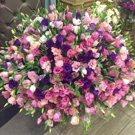 101 эустома микс: букеты цветов на заказ Flowwow