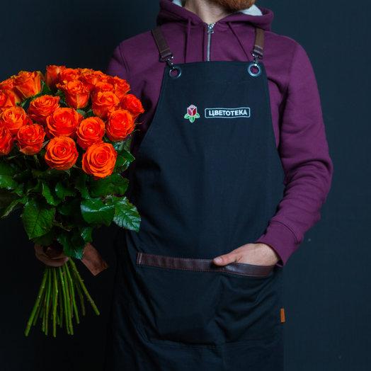 25 рыжих роз 60 см., Россия : букеты цветов на заказ Flowwow