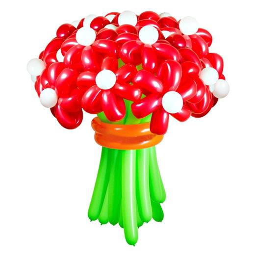 "Букет 15 красных ромашек ""Яркость"": букеты цветов на заказ Flowwow"