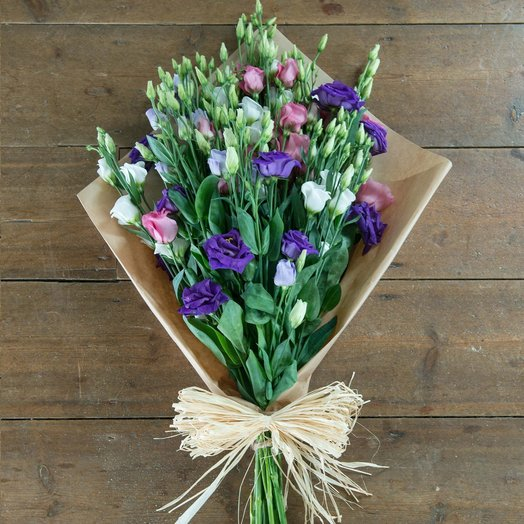 Букет разноцветной эустомы (15 шт): букеты цветов на заказ Flowwow