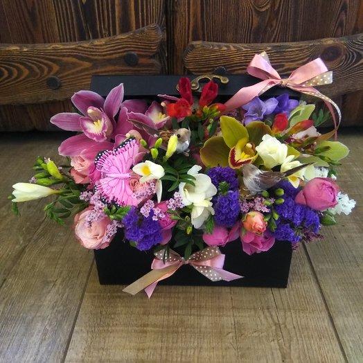 Сундук с сокровищами: букеты цветов на заказ Flowwow