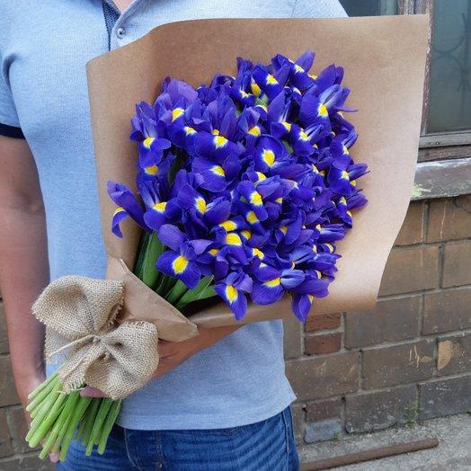 39 синих ирисов: букеты цветов на заказ Flowwow