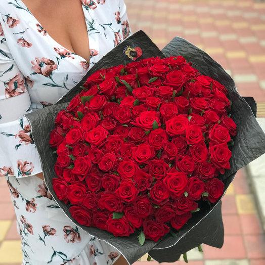101 РОЗА 50 см (АКЦИЯ): букеты цветов на заказ Flowwow
