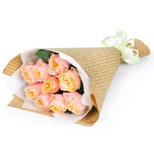 """Bouquet of peony roses 9 """"Vuvuzela"""""""