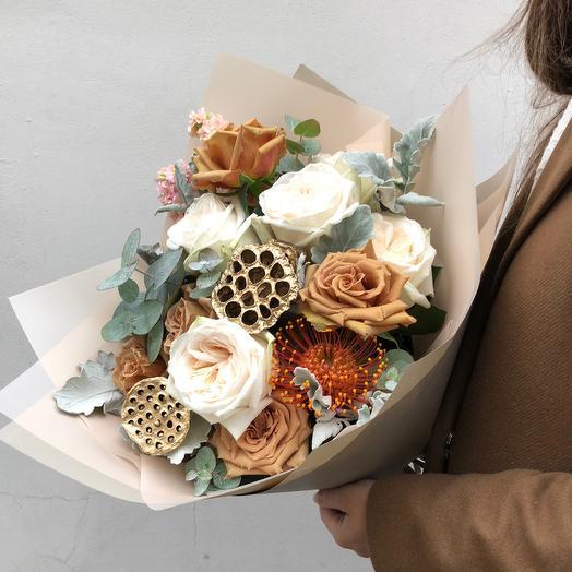 Букет золотая осень: букеты цветов на заказ Flowwow