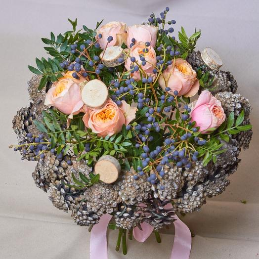 "Букет на дизайн каркасе из коллекции букетов ""весна2019"": букеты цветов на заказ Flowwow"