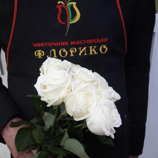 Белая роза 9: букеты цветов на заказ Flowwow