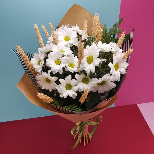 Ромашка с колосьями: букеты цветов на заказ Flowwow