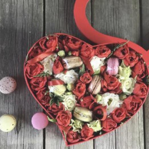 Красное-прекрасное: букеты цветов на заказ Flowwow