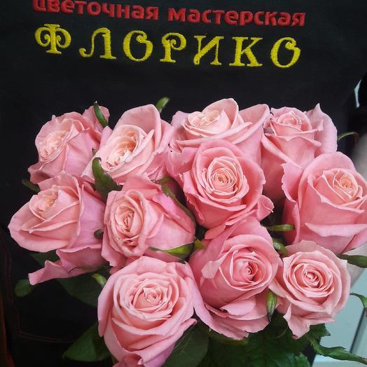 Розовая роза 11: букеты цветов на заказ Flowwow