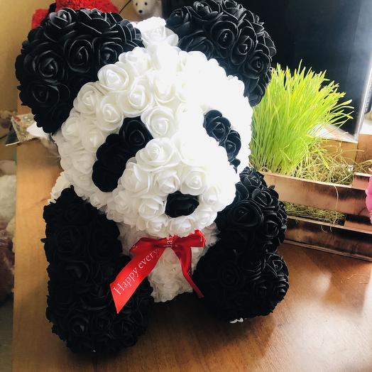 Панда из роз: букеты цветов на заказ Flowwow