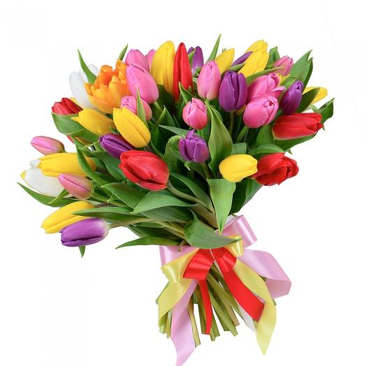 35 tulips: flowers to order Flowwow