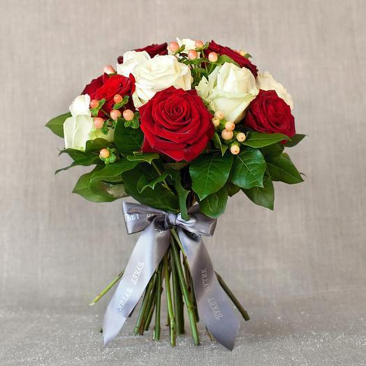 "Моно-букет из роз ""Вена"": букеты цветов на заказ Flowwow"