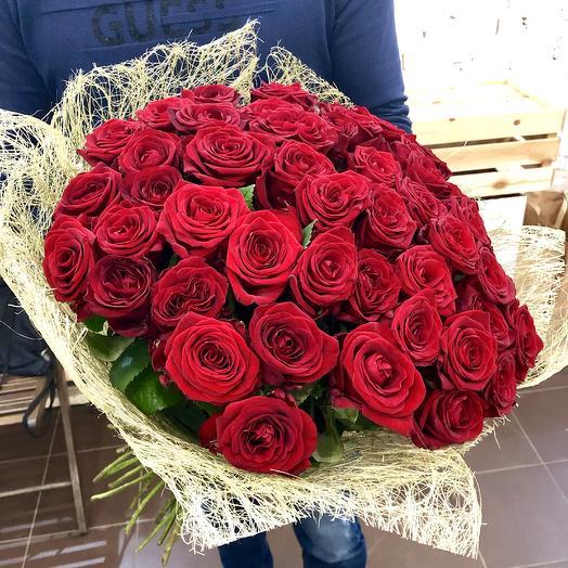 51 красная роза в Сизали