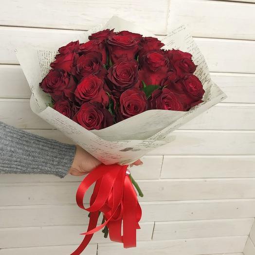 Букет из 21 розы: букеты цветов на заказ Flowwow