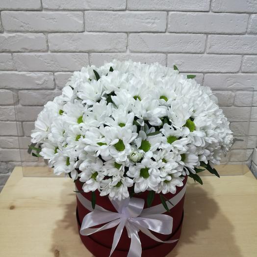 Коробка Хризантем: букеты цветов на заказ Flowwow