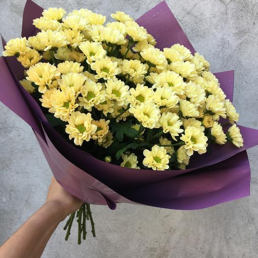Сантини желтая: букеты цветов на заказ Flowwow