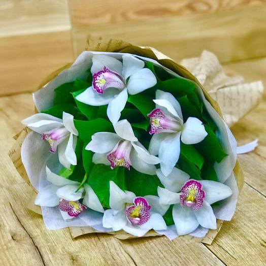 Букет из орхидей (7 шт). N605: букеты цветов на заказ Flowwow