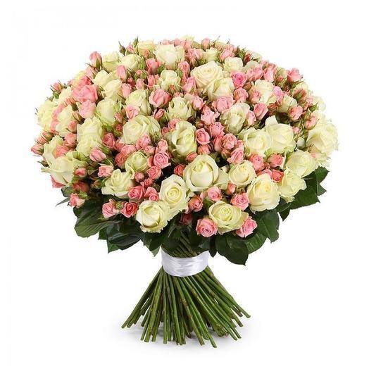 "Букет роз ""Бисквит"": букеты цветов на заказ Flowwow"