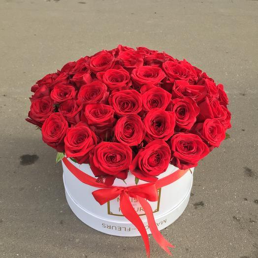 Цветы в коробке 51 Роза