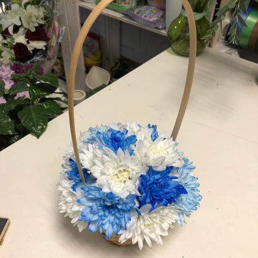 Корзинка для болельщиков ФК «Зенит»: букеты цветов на заказ Flowwow