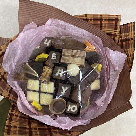 Шоколадный букет для любимой: букеты цветов на заказ Flowwow