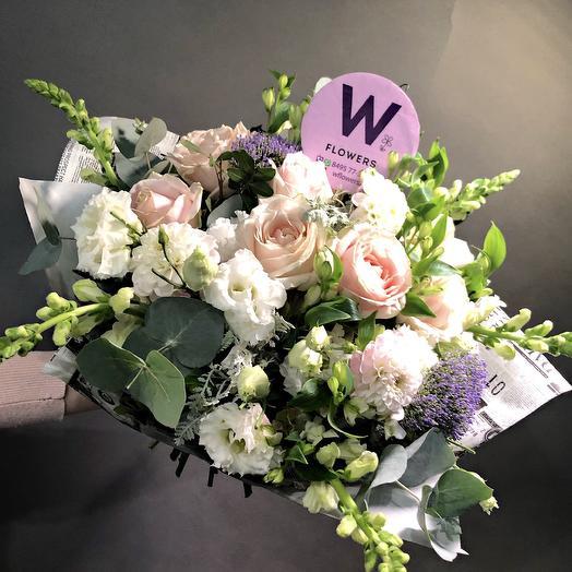 Букет «Белые росы»: букеты цветов на заказ Flowwow