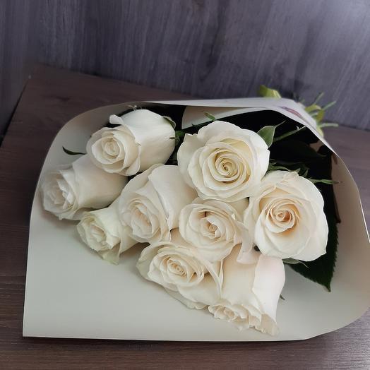 Монобукет из белой розы
