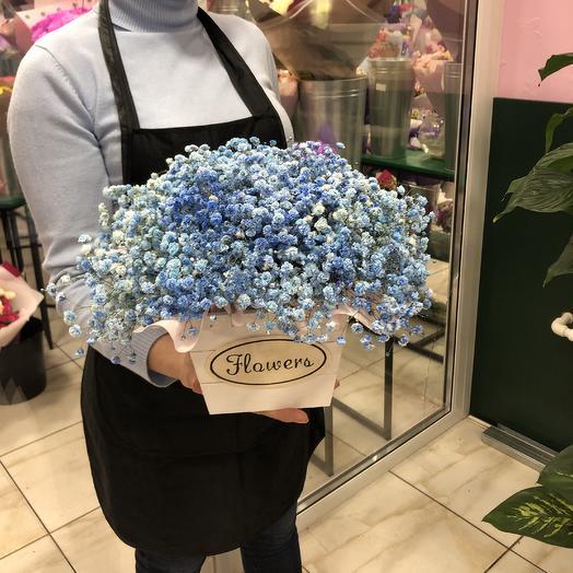 Ящик синяк: букеты цветов на заказ Flowwow