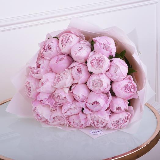 Букет Розовые Пионы 25шт