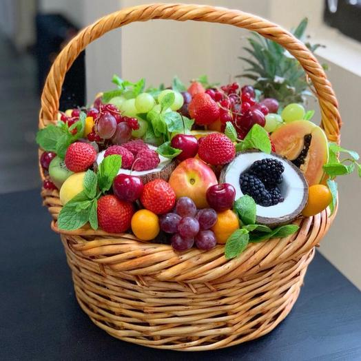 """Корзина фруктов """"фруктовый рай"""""""