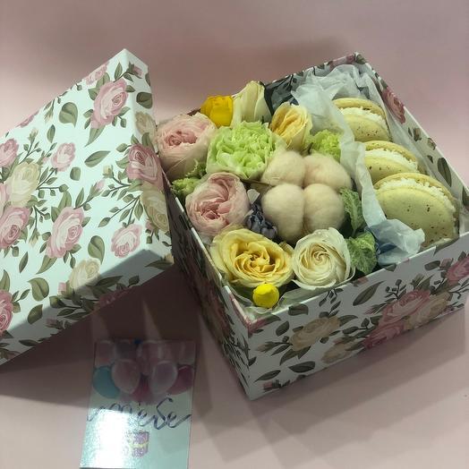 Набор flowers and macarons