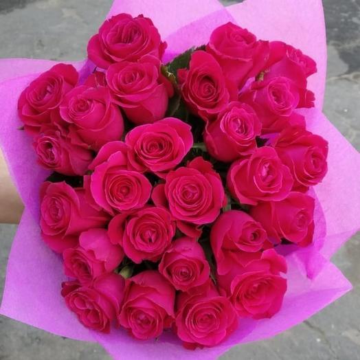 Малиновый рай 25 шт: букеты цветов на заказ Flowwow