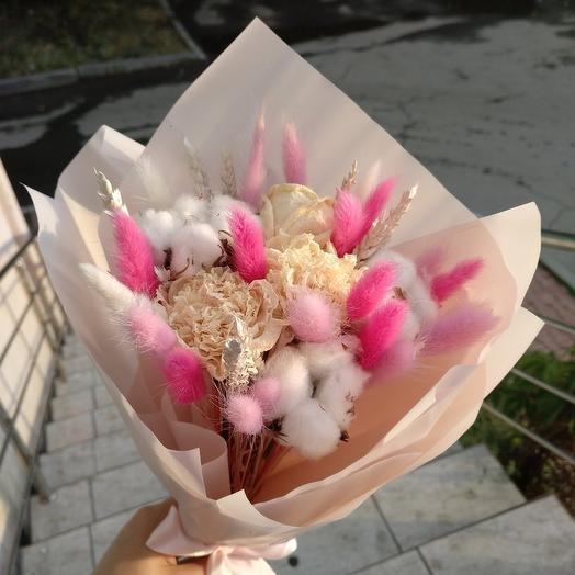 """Букет """"Сладкая вата"""" розовый"""