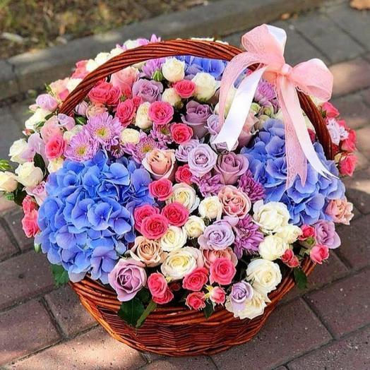 Корзина с цветами 001