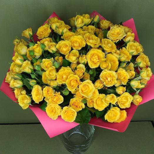 Роза (Кустовая) 40 см 25 шт. в упаковке