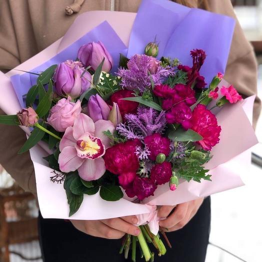 Букетик с орхидей