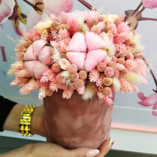 Сухоцветы Оттенки розовой мечты