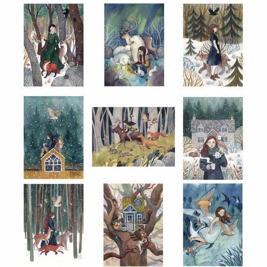 Набор из 9 сказочных открыток