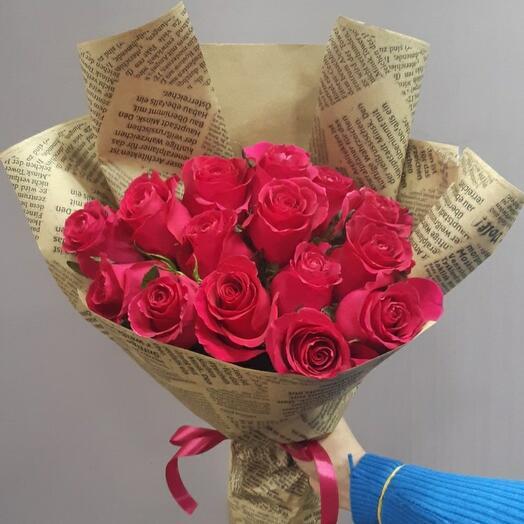 """Букет 15 роз """"Gocha"""""""