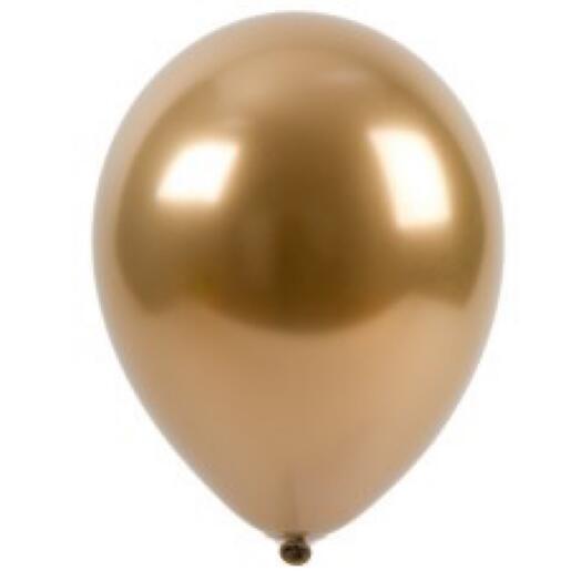 Шар с гелием - хром золото