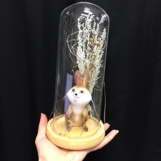 Заяц в колбе с подсветкой