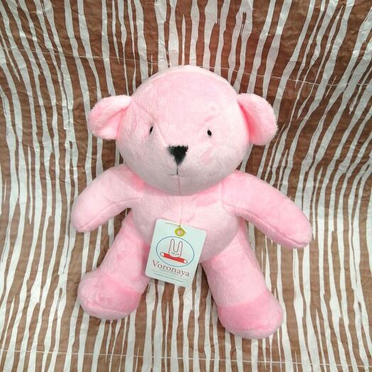 Дизайнерская игрушка VORONAYATOYS Мишка розовый
