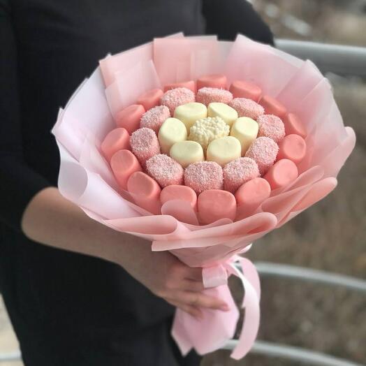 Маршмелоу 🍡в бельгийском шоколаде 🍫со вкусом клубники 🍓