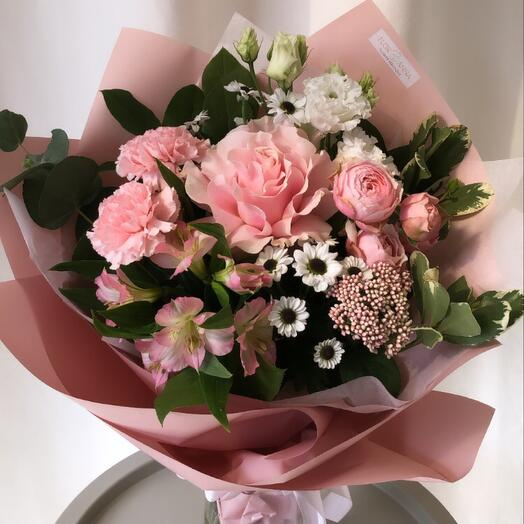 Букет с французской розой