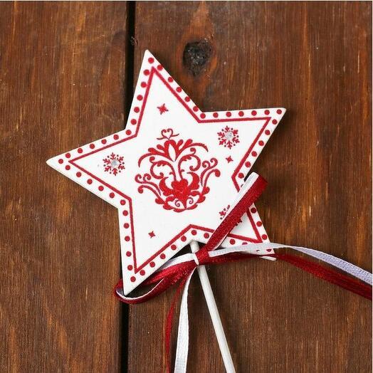 Декор на палочке «Волшебная звезда»